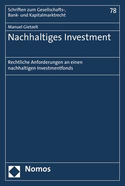 Nachhaltiges Investment von Gietzelt,  Manuel