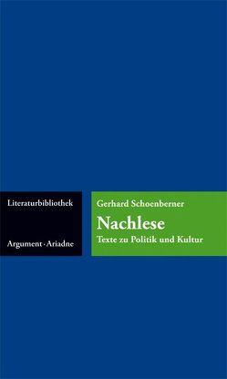 Nachlese von Schoenberner,  Gerhard