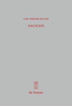 Nachlese von Müller,  Carl Werner