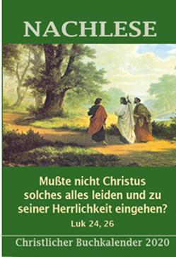 Nachlese Kalender Andachtsbuch 2020 von Boiar,  Holger
