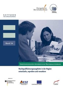 Nachqualifizierungsangebote in der Region entwickeln, erproben und verankern von Loebe,  Herbert, Severing,  Eckart