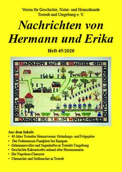 Nachrichten von Hermann und Erika Heft 45/2020 von Verein für Geschichte,  Natur- und Heimatkunde Tostedt und Umgebung e.V.