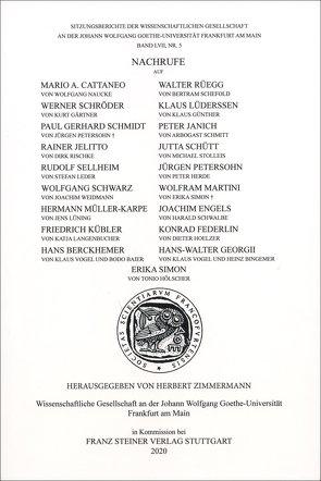 Nachrufe von Zimmermann,  Herbert
