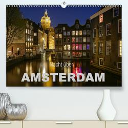 Nacht über Amsterdam (Premium, hochwertiger DIN A2 Wandkalender 2020, Kunstdruck in Hochglanz) von Wagner,  Sabine