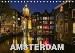 Nacht über Amsterdam (Tischkalender 2019 DIN A5 quer) von Wagner,  Sabine