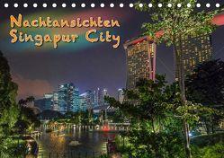 Nachtansichten Singapur City (Tischkalender 2019 DIN A5 quer) von Gödecke,  Dieter
