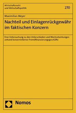 Nachteil und Einlagenrückgewähr im faktischen Konzern von Meyer,  Maximilian