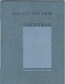 Nachtrag von Stramm,  August