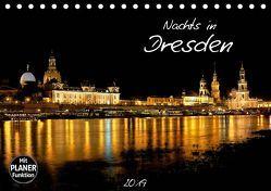 Nachts in Dresden (Tischkalender 2019 DIN A5 quer)