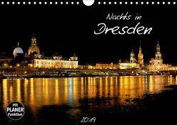 Nachts in Dresden (Wandkalender 2019 DIN A4 quer) von Meutzner,  Dirk