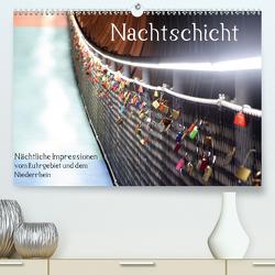 Nachtschicht – Nächtliche Impressionen vom Ruhrgebiet und dem Niederrhein (Premium, hochwertiger DIN A2 Wandkalender 2020, Kunstdruck in Hochglanz) von Daus,  Christine