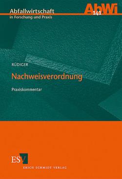 Nachweisverordnung von Rüdiger,  Jörg