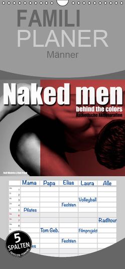 Naked men behind the colors – Ästhetische Aktfotografien – Familienplaner hoch (Wandkalender 2019 , 21 cm x 45 cm, hoch) von Fotodesign,  Black&White, Wehrle und Uwe Frank,  Ralf