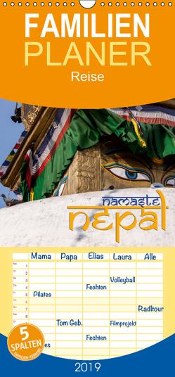 Namaste Nepal – Familienplaner hoch (Wandkalender 2019 , 21 cm x 45 cm, hoch) von Pohl,  Gerald