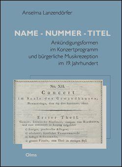 Name – Nummer – Titel von Lanzendörfer,  Anselma