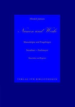 Namen und Werke von Jantzen,  Hinrich