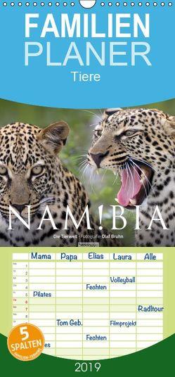 Namibia – Die Tierwelt – Familienplaner hoch (Wandkalender 2019 , 21 cm x 45 cm, hoch) von Bruhn,  Olaf