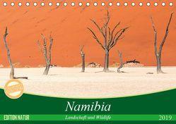 Namibia Landschaft und Wildlife (Tischkalender 2019 DIN A5 quer) von Junio,  Michele