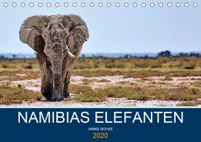 Namibias Elefanten (Tischkalender 2020 DIN A5 quer) von Woyke,  Wibke