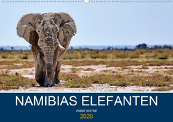Namibias Elefanten (Wandkalender 2020 DIN A2 quer) von Woyke,  Wibke