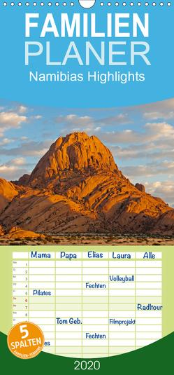 Namibias Highlights – Familienplaner hoch (Wandkalender 2020 , 21 cm x 45 cm, hoch) von Scholz,  Frauke