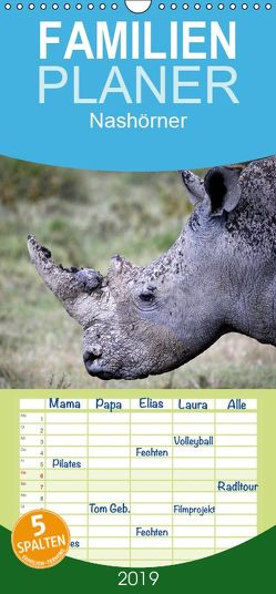 Nashörner – Begegnungen in Afrika – Familienplaner hoch (Wandkalender 2019 , 21 cm x 45 cm, hoch) von Herzog,  Michael