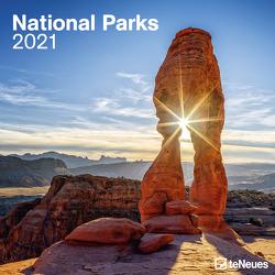 National Parks 2021 – Wand-Kalender – Broschüren-Kalender – 30×30 – 30×60 geöffnet