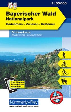 Nationalpark Bayerischer Wald Nr. 54 Outdoorkarte Deutschland 1:35 000