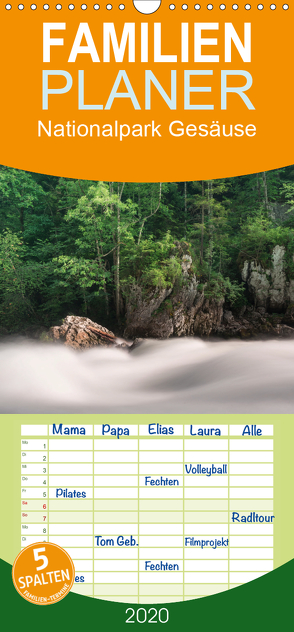 Nationalpark Gesäuse – Familienplaner hoch (Wandkalender 2020 , 21 cm x 45 cm, hoch) von Hollinger,  Andreas