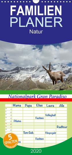 Nationalpark Gran Paradiso – Familienplaner hoch (Wandkalender 2020 , 21 cm x 45 cm, hoch) von Schörkhuber,  Johann