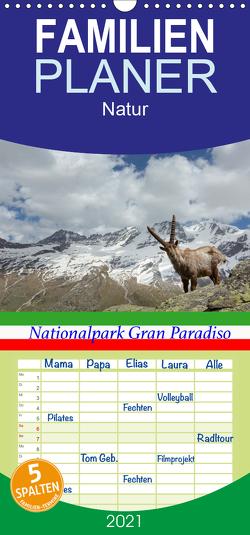 Nationalpark Gran Paradiso – Familienplaner hoch (Wandkalender 2021 , 21 cm x 45 cm, hoch) von Schörkhuber,  Johann