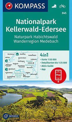 Nationalpark Kellerwald-Edersee, Naturpark Habichtswald, Wanderregion Medebach von KOMPASS-Karten GmbH