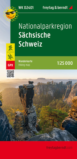 Nationalparkregion Sächsische Schweiz, Wanderkarte 1:25.000