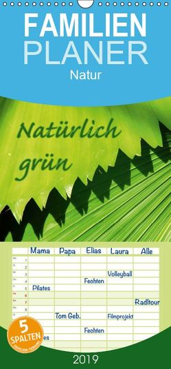 Natürlich grün – Familienplaner hoch (Wandkalender 2019 , 21 cm x 45 cm, hoch) von GUGIGEI