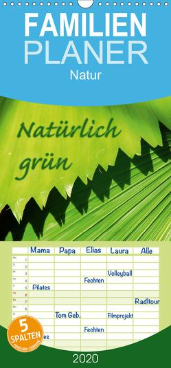 Natürlich grün – Familienplaner hoch (Wandkalender 2020 , 21 cm x 45 cm, hoch) von GUGIGEI