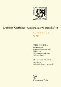 Natur-, Ingenieur- und Wirtschaftswissenschaften von Micheel,  Fritz