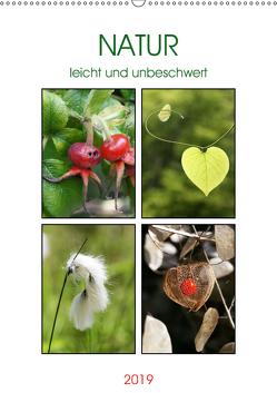 Natur leicht und unbeschwert (Wandkalender 2019 DIN A2 hoch) von Kruse,  Gisela