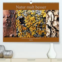 Natur malt besser (Premium, hochwertiger DIN A2 Wandkalender 2021, Kunstdruck in Hochglanz) von Weis,  Stefan