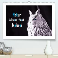 Natur schwarz – weiß Malerei (Premium, hochwertiger DIN A2 Wandkalender 2021, Kunstdruck in Hochglanz) von Riedel,  Tanja