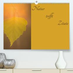 Natur trifft Zitate (Premium, hochwertiger DIN A2 Wandkalender 2020, Kunstdruck in Hochglanz) von Kulla,  Alexander