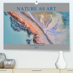 Nature as Art – Tongruben von oben (Premium, hochwertiger DIN A2 Wandkalender 2021, Kunstdruck in Hochglanz) von Bundrück,  Peter