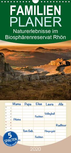 Naturerlebnis im Biosphärenreservat Rhön – Familienplaner hoch (Wandkalender 2020 , 21 cm x 45 cm, hoch) von Hempe,  Manfred