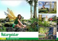 Naturgeister Die Grünen Feen (Wandkalender 2021 DIN A2 quer) von Gaymard,  Alain