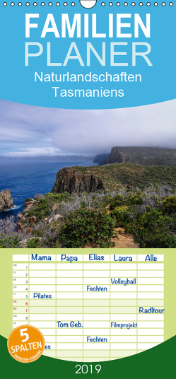 Naturlandschaften Tasmaniens – Familienplaner hoch (Wandkalender 2019 , 21 cm x 45 cm, hoch) von Smith,  Sidney