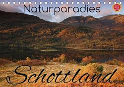 Naturparadies Schottland (Tischkalender 2021 DIN A5 quer) von Cross,  Martina