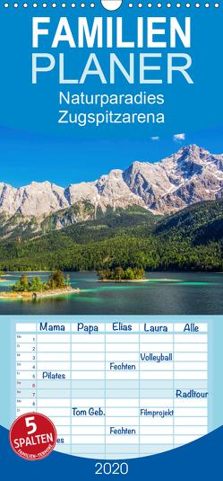 Naturparadies Zugspitzarena – Familienplaner hoch (Wandkalender 2020 , 21 cm x 45 cm, hoch) von Ferrari,  Sascha