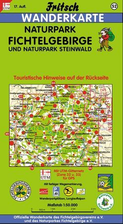 Naturpark Fichtelgebirge und Naturpark Steinwald von Fritsch Landkartenverlag