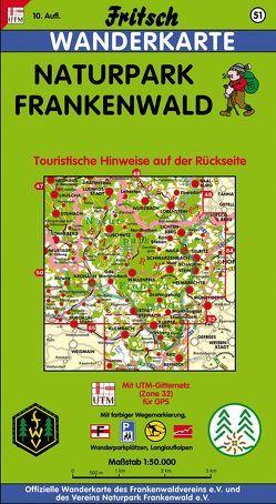 Naturpark Frankenwald von Fritsch Landkartenverlag
