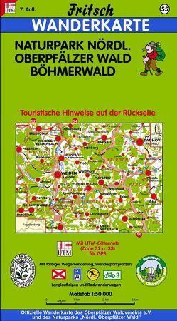 Naturpark Nördlicher Oberpfälzer Wald – Böhmerwald von Fritsch Landkartenverlag