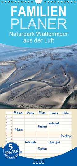 Naturpark Wattenmeer aus der Luft – Familienplaner hoch (Wandkalender 2020 , 21 cm x 45 cm, hoch) von N.,  N.